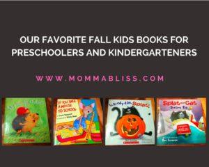 Fall Favorite Kids Books for Preschoolers and Kindergartens
