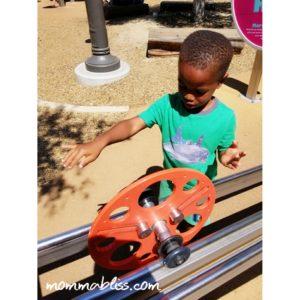 Kid Play with Wheel